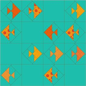 Emerald Coast Modern Quilt Guild: March 2014 Block Lottery - Gold Fish Crackers