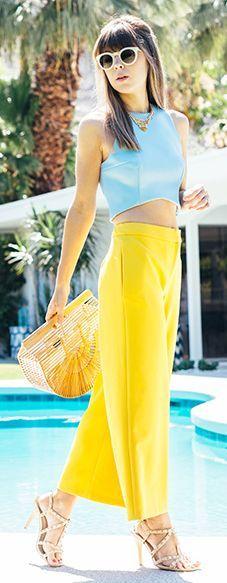Look com cor - Palm Springs Style