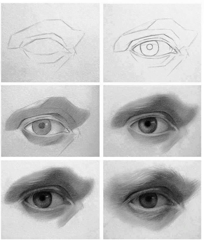 Rostro Humano Como Dibujar Un Hombre Facil Paso A Paso Moda Inc Con Imagenes Dibujos De Ojos Ojos De Hombre Dibujos