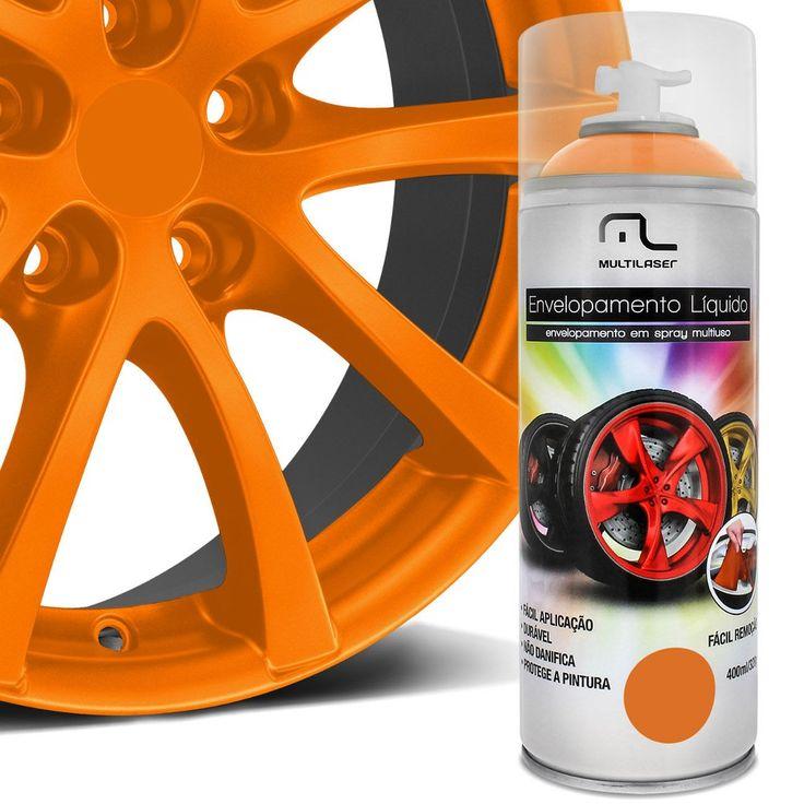 Spray de Envelopamento Líquido Multilaser 400 ml Laranja Florescente - AutoParts Online