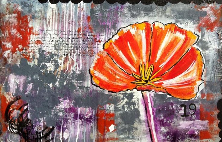 luv: Artsy Awesomeness, Orange Flowers, Art Journaling, Art Inspirations