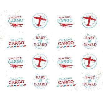 Precious Cargo Vintage Travel Baby Shower by I Heart to Party