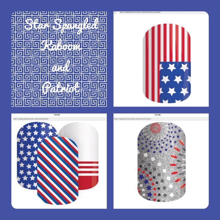 jamberry patriotic nails
