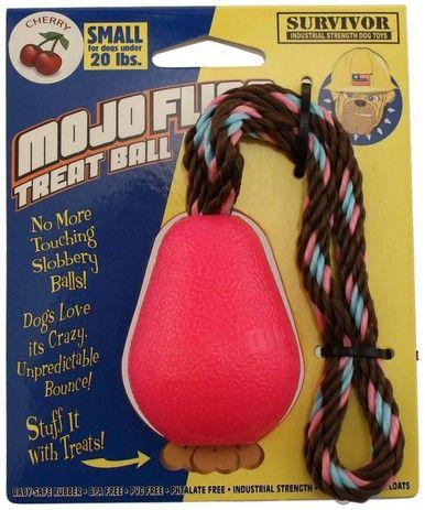 Petsport Mojo Fling Treat Ball Industrial Strength Interactive Dog Toy Small