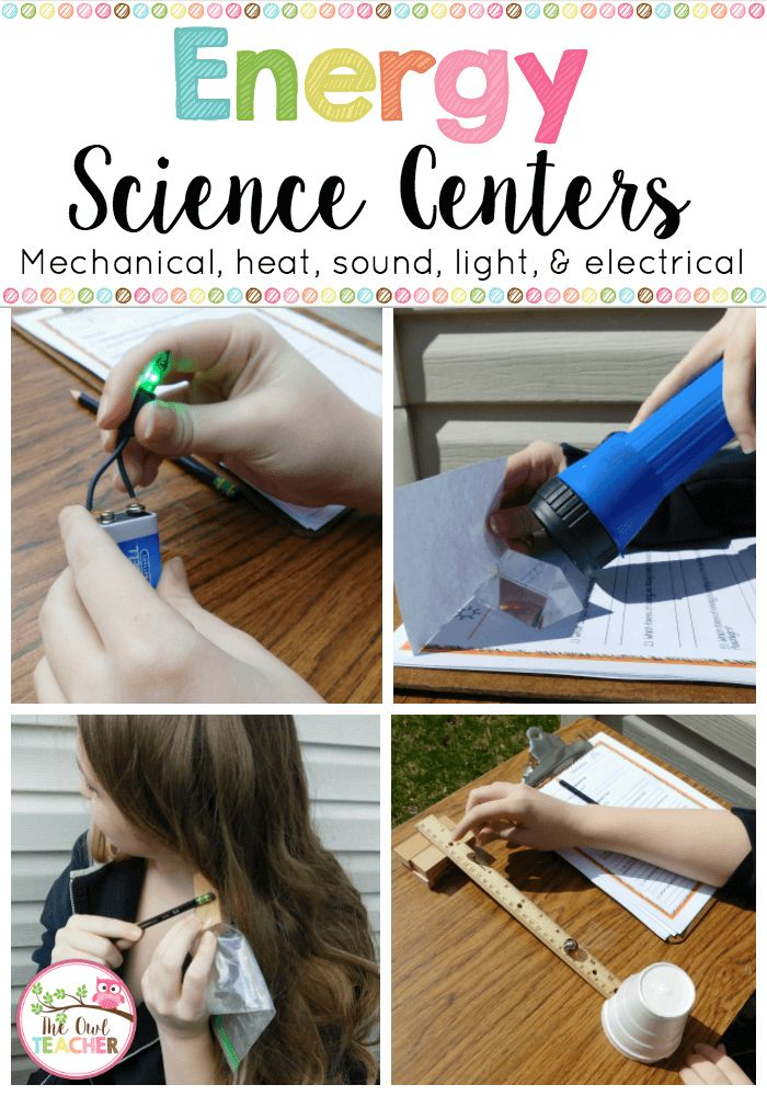 Make teaching energy engaging with this science experiment activity that can be used as science centers!  It's perfect for sound energy, heat energy, light energy, electrical energy, and mechanical energy!  $