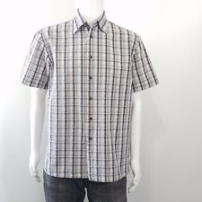 Zara  Mens Gray Brown Plaid Button Down Short Sleeve Shirt Size Large in Clothing, Shoes & Accessories, Men's Clothing, Casual Shirts   eBay