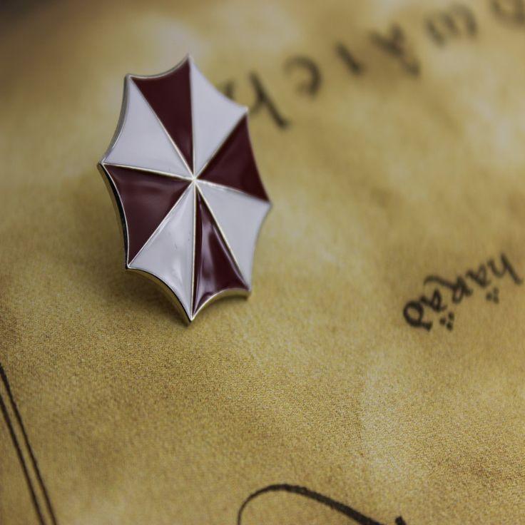 Resident Evil Красный Зонтик Pin Корпорации Umbrella Resident Evil Pin Оптовая Бижутерия Броши Знак Высокого Качества