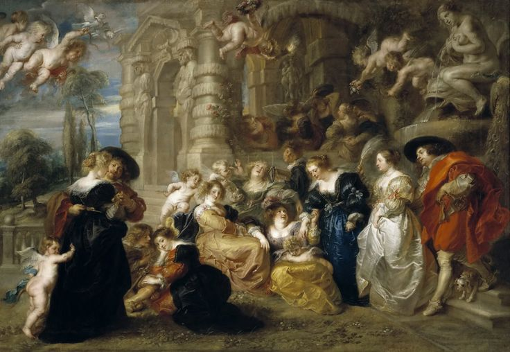 Peter Paul Rubens - The Garden of Love [c.1633] | Arash Noorazar Virtual Art Gallery  #17th #Classic #Painting #Peter #Paul #Rubens