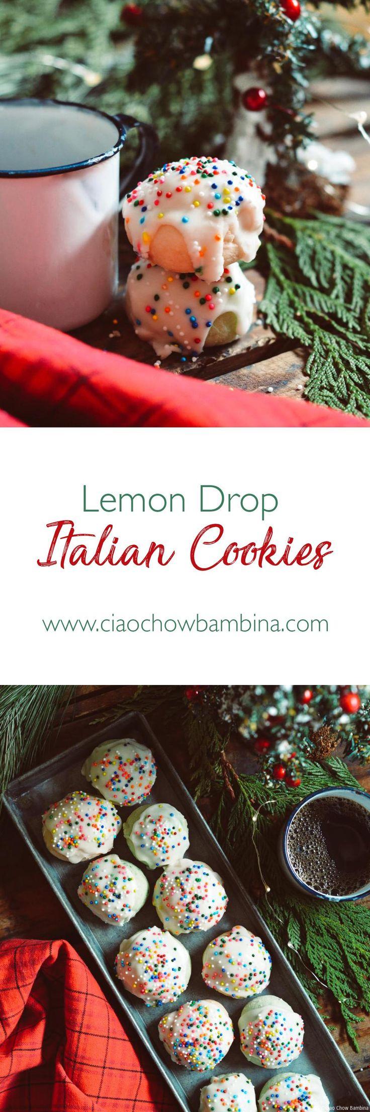 Lemon Drop Italian Cookies ciaochowbambina.com