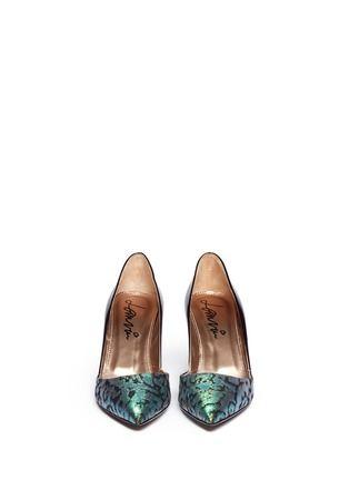 LANVIN - Iridescent brocade leather d'Orsay pumps | Multi-colour Pump High Heels | Womenswear | Lane Crawford - Shop Designer Brands Online