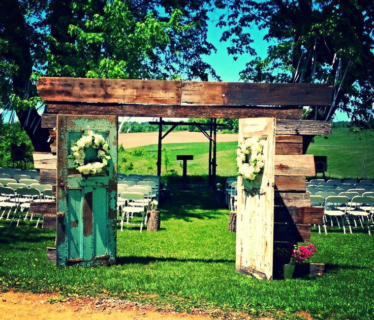 Rustic Wedding Arch Ideas: 17 Best Ideas About Wood Wedding Arches On Pinterest