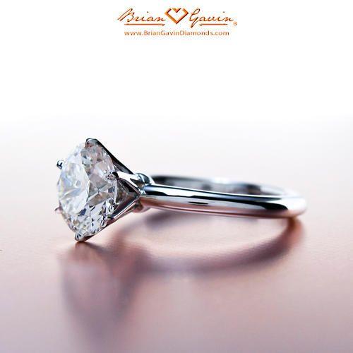 Platinum Classic Tiffany Style Half Round, Engagement Ring | Solitaire Diamond Ring.