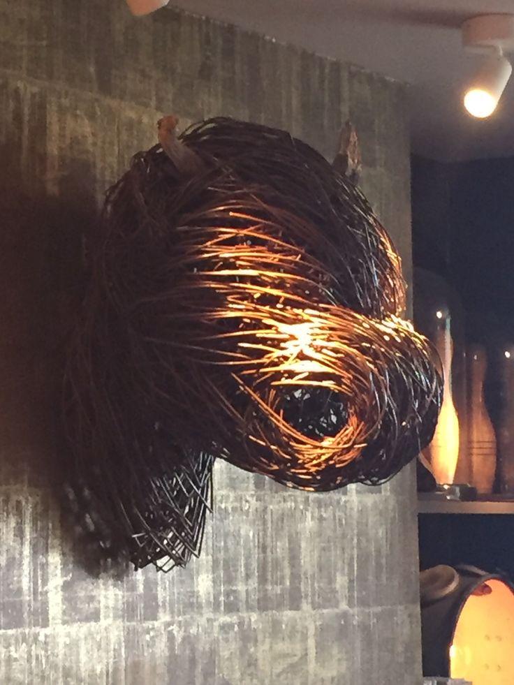 Highland cow willow sculpture