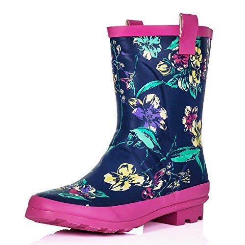 (UK & Ireland): Shoes: SPYLOVEBUY ANTONIA Flat Festival Wellies Rain Boots [
