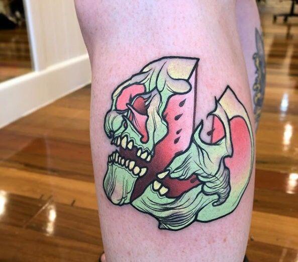 Pin By Todd Ross On G U Y T A T S Watermelon Tattoo Tattoos White Tattoo