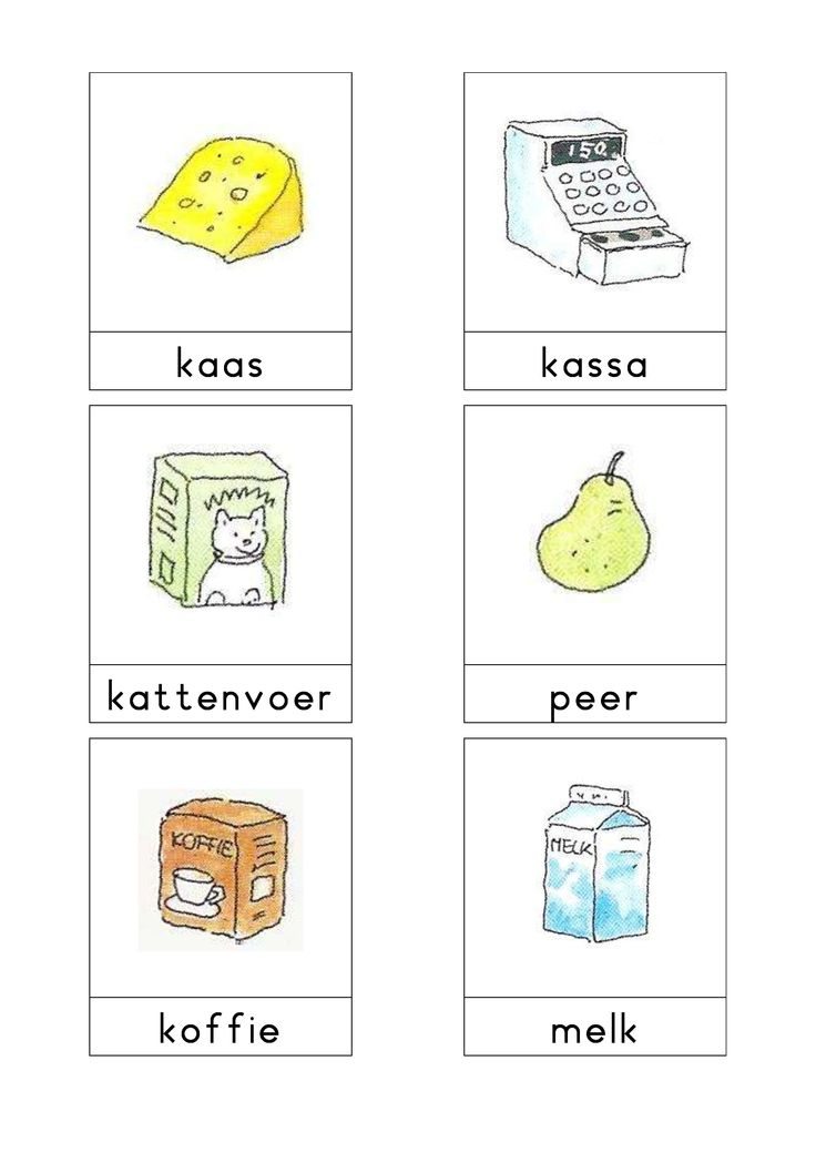 Woordkaarten Bas 'De supermarkt' 2
