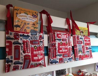 Bulles de cerises: Pochettes pour lit en hauteur