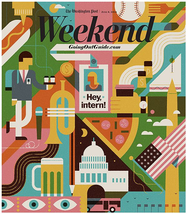 Washington Post - Weekend Guide by MUTI, via Behance