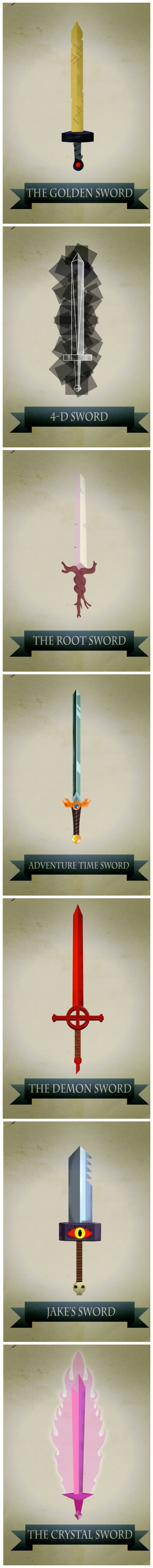 The design of the 4-D sword is intense...
