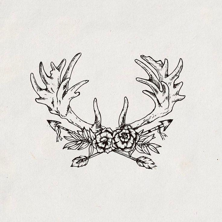 Antlers. Part of a branding. . . . . #illustration #artoftheday #handdrawn #antlers #branding #oldschool #oldblackbamboo #livefolk #deer