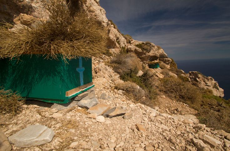 We bumped into these beehives while walking around Amorgos...