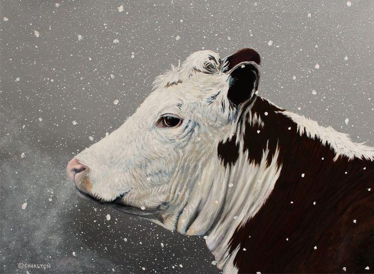 "Saatchi Online Artist: Melanie Charlton; Acrylic 2013 Painting ""First Winter"""