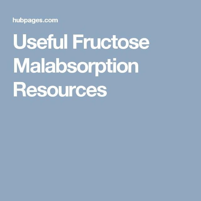 Useful Fructose Malabsorption Resources