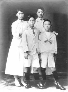 Chinese American children in school dress, Chicago, 1920. Chinese-American…