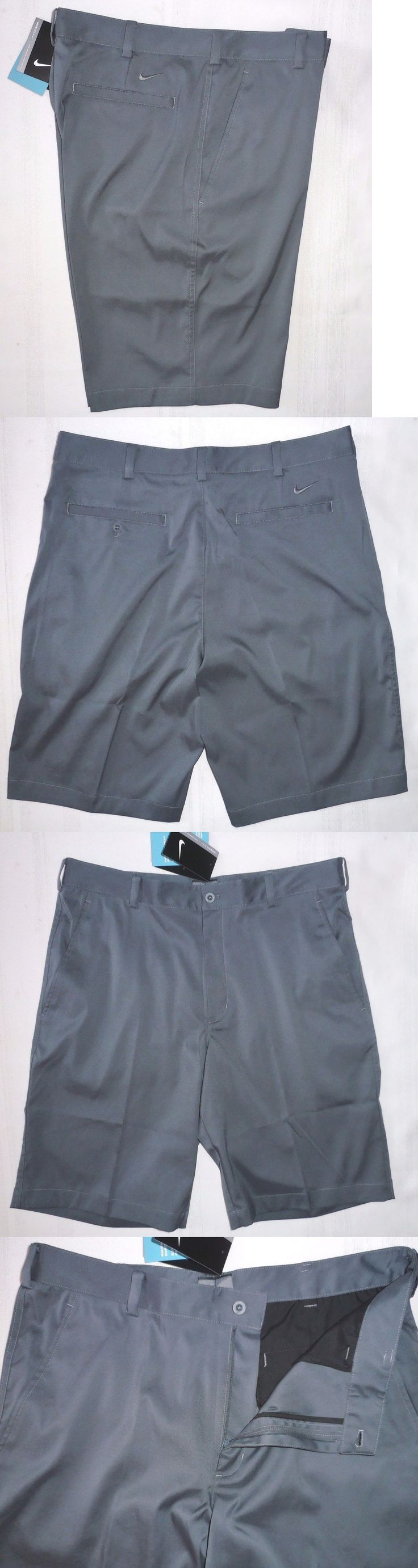 Shorts 15689: Nike Golf Tech Shorts 551808 021 Mens Flat Front Size 30 34 32 36 38 Gray -> BUY IT NOW ONLY: $34.99 on eBay!