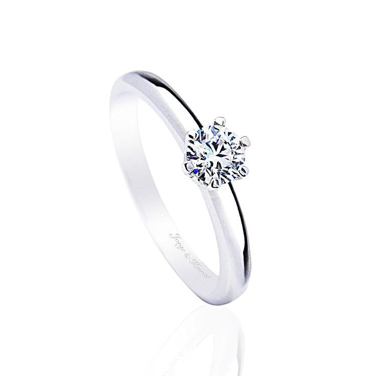 Anillo Solitario. Anillo de Compromiso con diamante de Jorge Juan Joyeros