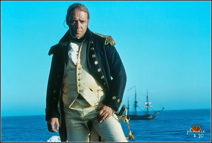 Russell Crowe as Jack Aubrey, Master and Commander