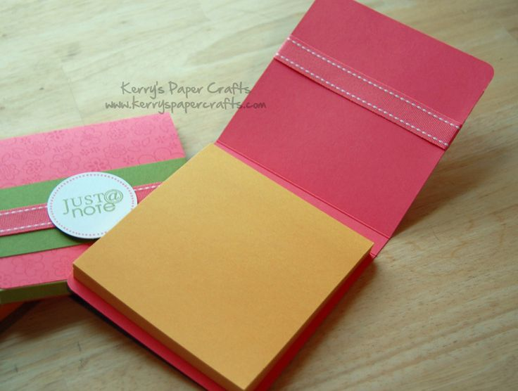 Post It Books.  Also, you could stick a magnet strip on the back and away you go!