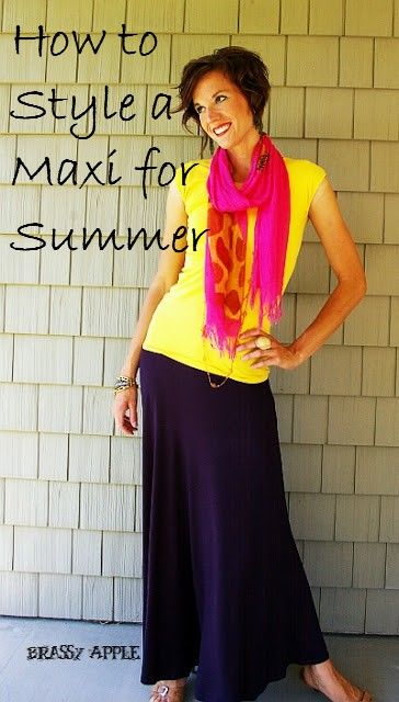 How to Style a Maxi for Summer - BrassyApple.com #howto #fashion
