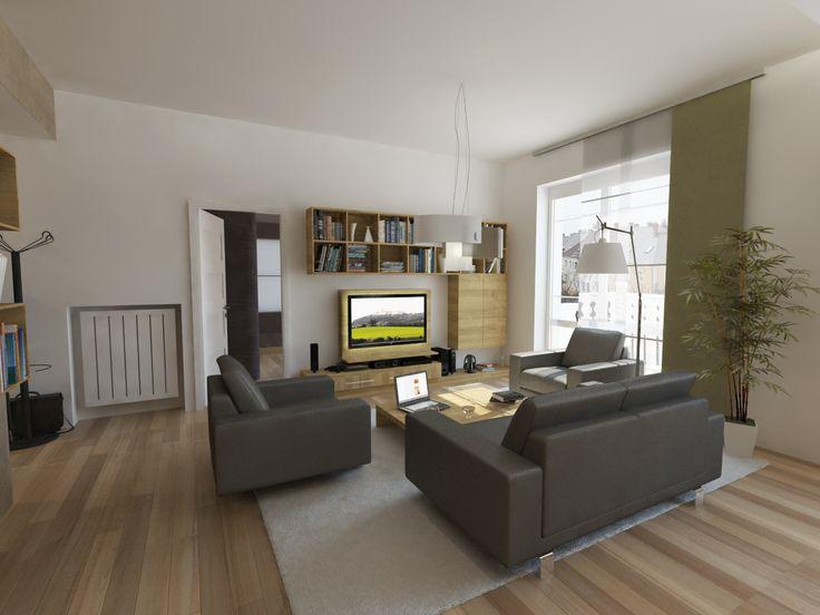 Látványterv nappali / Architectural visualization living room