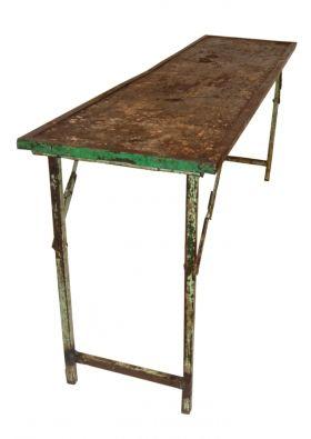 Sidobord trä och järn  - Vintage i gruppen Trädgårdsmöbler hos Reforma Sthlm  (m06029)