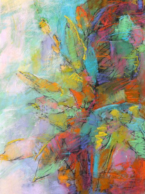 Flowers for January, 30x22 pastel on Rives BFK paper by Debora L. Stewart Buy Now #buyart #cuadrosmodernos