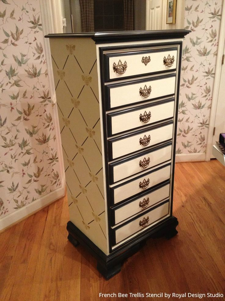 465 best images about Stenciled and Painted Furniture on Pinterest