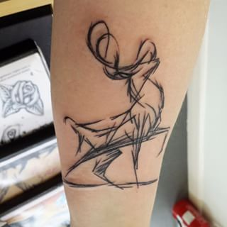 This fantastic stylised stag. | 24 Beautiful Scottish Tattoos You Definitely Won't Regret