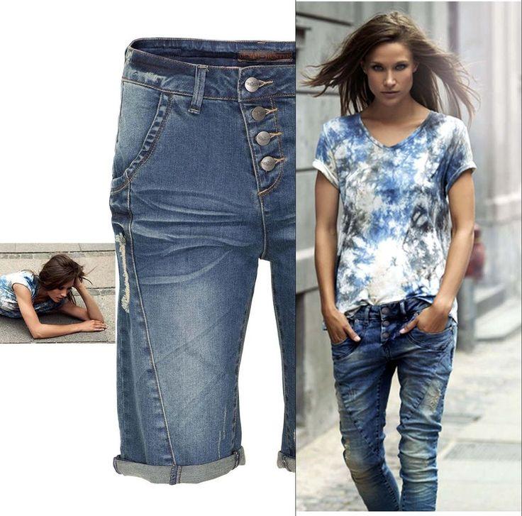 Damen Jeans Shorts blau Denim Hunter Gr.38