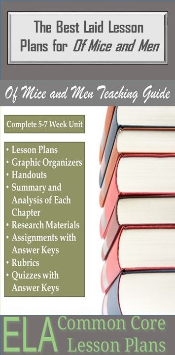 Great Collection of Of Mice and Men Lesson Plans.