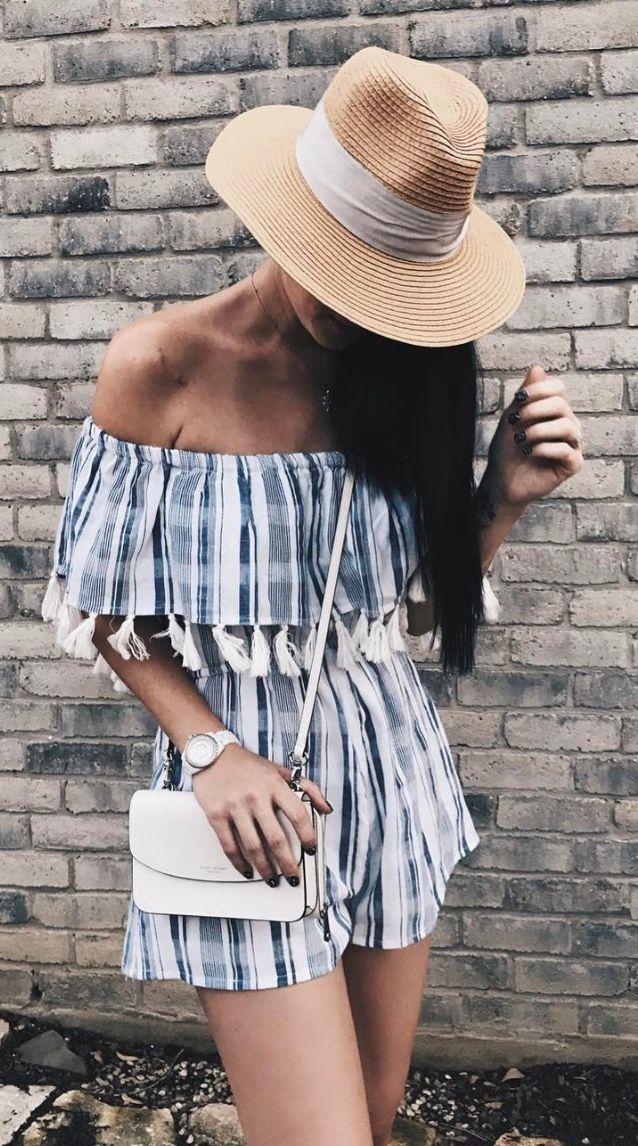 Stripe summer romper