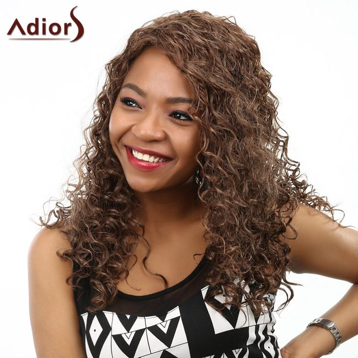 Fluffy Kinky Curly Stunning Long Capless Fashion Deep Brown Synthetic Women's Wig - DEEP BROWN