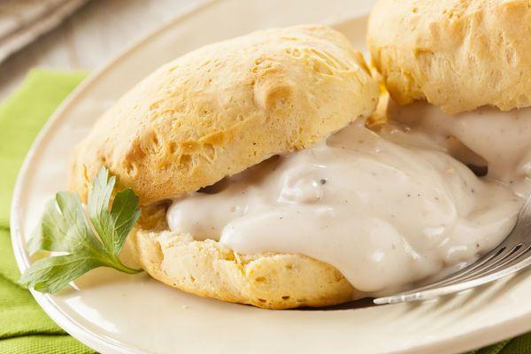 Breakfast Recipe: Buttermilk Biscuits with Sausage Gravy