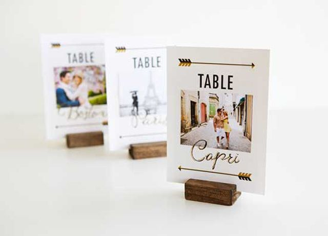 20 DIYs To Personalize Your Wedding: DIY Travel Themed Wedding Table Signs