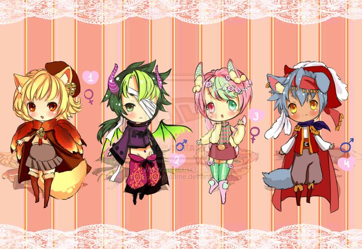 Character Design Price : Random pack cheap prices open by adoptsmadame
