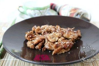 Straccetti di pollo con salsa teriyaki