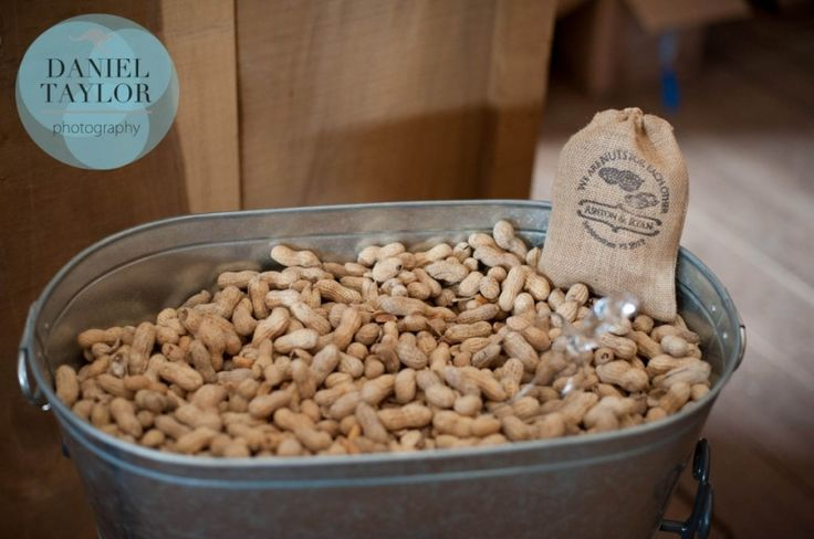 Boiled peanuts at reception or maybe as a favor!  It's not a southern wedding without some boiled peanuts! Daniel Taylor Photography