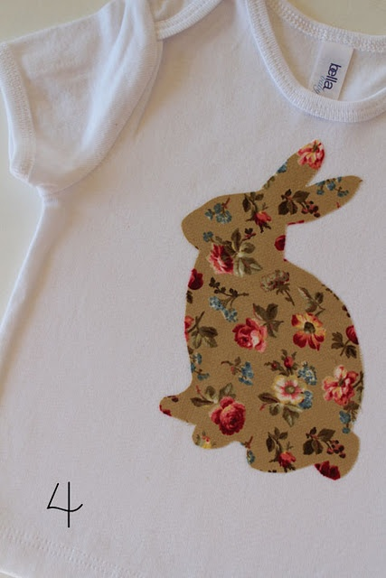 Make a Bunny Shirt diyBunnies Shirtonsi, Crafts Ideas, Bunnies Templates, Sewing Ideas, Bunnies Shirts, Baby Shower, Easter Ideas, Diy Appliques Kids Shirts, Wall Ideas