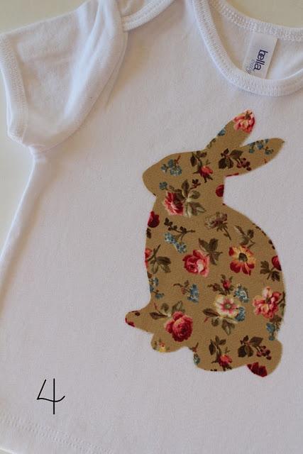 Make a Bunny Shirt diy: Diy Ideas, Crafts Ideas, Bunnies Templates, Bunnies Shirts, Bunnies Sconces, Crafts Applique, Diy Appliques Kids Shirts, Easter Ideas, Wall Ideas