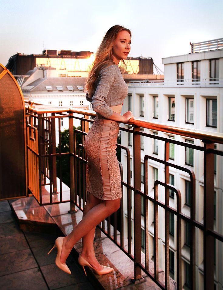 Anna Gotsyk - Mango Skirt, Kazar Shoes, Topshop Top - Vienna Diaries with Hilton